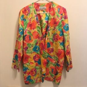 Colorful Floral Vintage Blazer